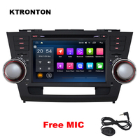 4GB RAM 8 core Android 8.0 Car DVD Player for Toyota Highlander 2008 2011 Radio GPS Navigation WiFi DVR, Support OBD DAB+ 3G 4G