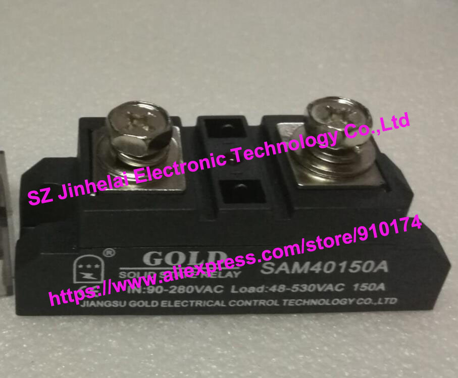 New and original  SAM40150A  GOLD  Single phase AC Solid state relay   90-280VAC  48-530VAC  150A normally open single phase solid state relay ssr mgr 1 d48120 120a control dc ac 24 480v