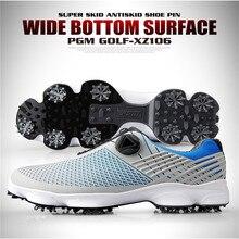 PGM/Новинка; обувь для гольфа; мужские водонепроницаемые дышащие Нескользящие кроссовки; мужские вращающиеся шнурки; спортивные кроссовки с шипами; XZ106