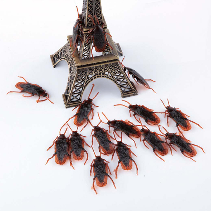 3Pcs Funny Fake Cockroach Fun Novelty Tricks Simulation False Cockroach Toys Halloween Decoration Jokes Pranks Maker