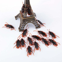 3Pcs Funny Fake Cockroach Fun Novelty Tricks Simulation False Cockroach Toys Halloween Decoration Jokes Pranks Maker(China)