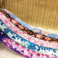 Color Flower Printing Grosgrain Ribbon DIY Handmade Material Hairbows Apparel Accessory Gift Package