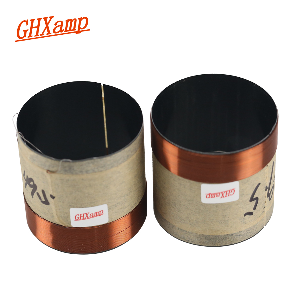 GHXAMP 49.5 Bass Voice Coil Round Copper  6.8OHM Two Layers Black Aluminum Diameter 49.5mm Woofer Speaker Voice Coil Accessories