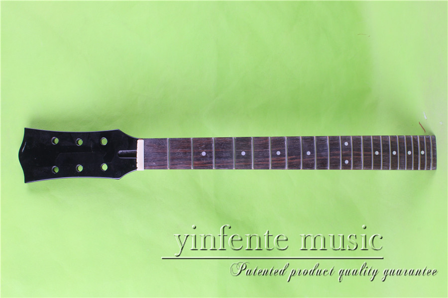 L -00151 #  unfinished   24.75 Electric guitar neck fine quality  rosewood   fingerboard