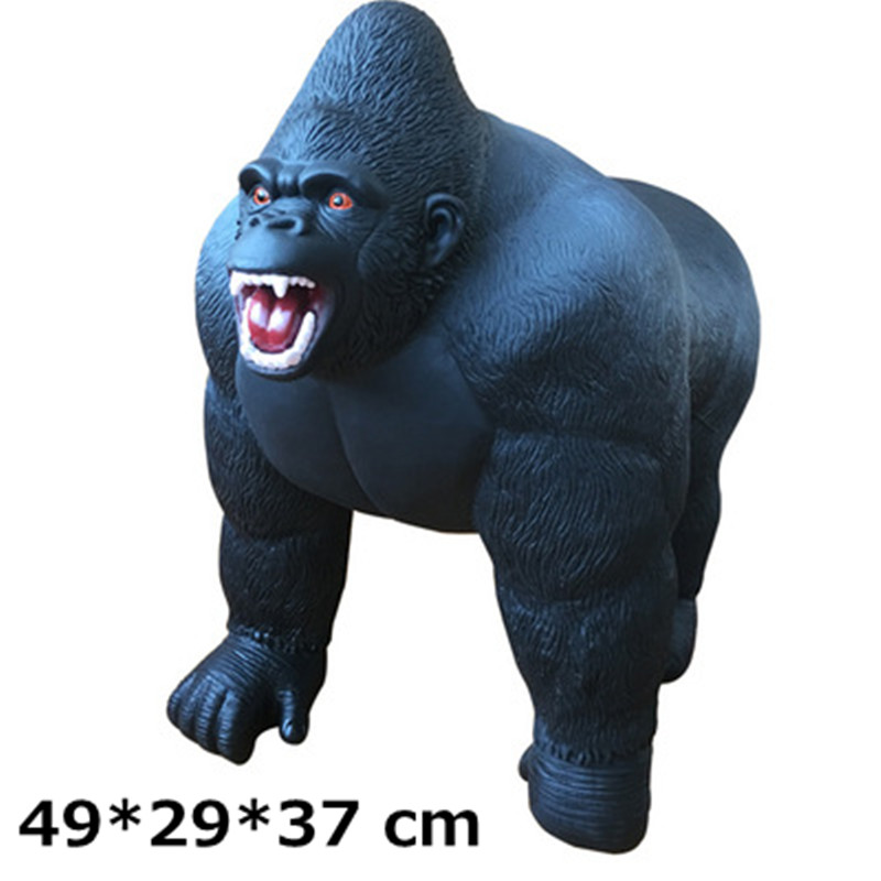 49cm King Kong Skull Island Gorilla Decoration PVC Action Figure Cartoon Monster Collectible Model Toy Kids Gift Toy L1755 new hot christmas gift 21inch 52cm bearbrick be rbrick fashion toy pvc action figure collectible model toy decoration