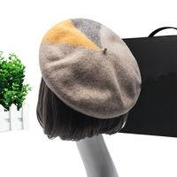 Beckyruiwu High Quality Pure Wool Painter Cap Girl Knitted Hat Women Autumn And Winter Fashion Warm