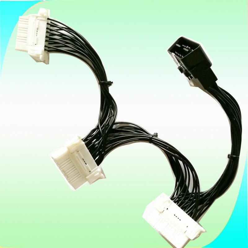 5pcs Obdii Obd Ii Obd 2 Obd2 Extension Cable Y Splitter