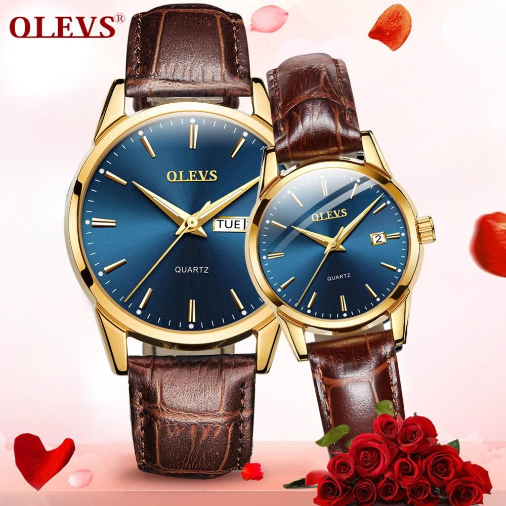 Zegarek dla pary para męskie zegarki top marka luksusowe kobiet zegarek na rękę dzień tygodnia zegar relogio feminino kwarcowy wodoodporny zegarek na rękę nowy w Zegarki dla zakochanych od Zegarki na  Grupa 1