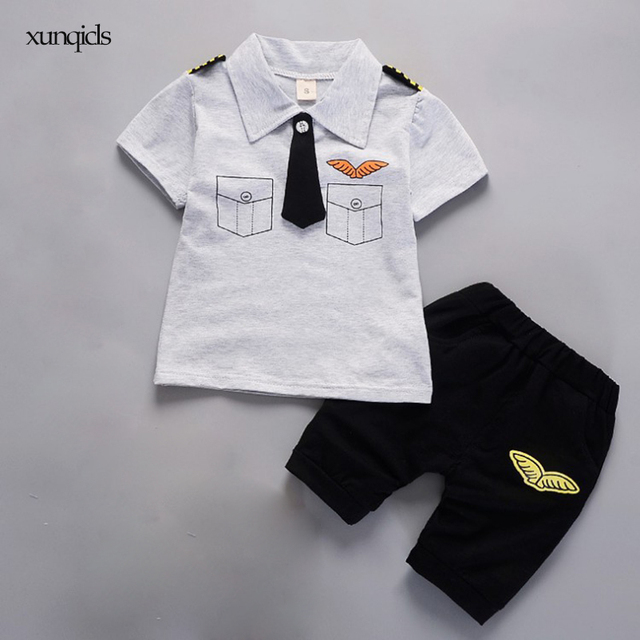 e6a387571 Aliexpress.com   Buy 2018 New Summer Boy Clothes Set Baby Short ...