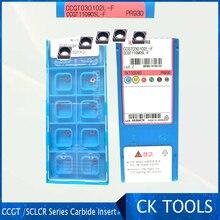 Top quality ko insert SCLCR CCGT030102 CCGT030104 CCGT0 PR930 TN60  Wearproof Carbide Insert Lathe Mill CNC tools