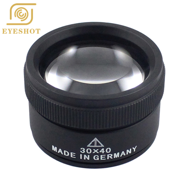30X40MM Portable Double Lens Magnifier Appraisal Jewelry Jade Jade Precision Magnifying Glass Old Man Reading Rading Glass 30X