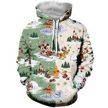 Drop Shipping Cartoon Christmas Mouse 3D Printed Sweatshirt For Women Men Hoodies/Zipper Hoodie/Tees/Sweatpants/Casual Shorts