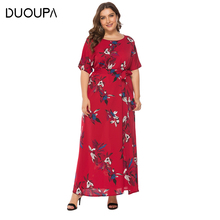 DUOUPA Round Neck Short-sleeved Dress 2019 Summer New Womens Printed SQ0108
