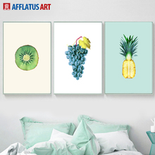 Kiwi Grape Pineapple Wall Art Canvas Painting Nordic Posters And Prints Kitchen Fruit Pictures For Living Room Bedroom
