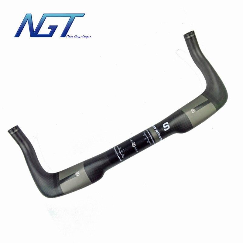 Guidon de vélo Super léger en carbone couleur grise guidon de vélo de surface parfaite TT Bar de qualité supérieure personnalisé