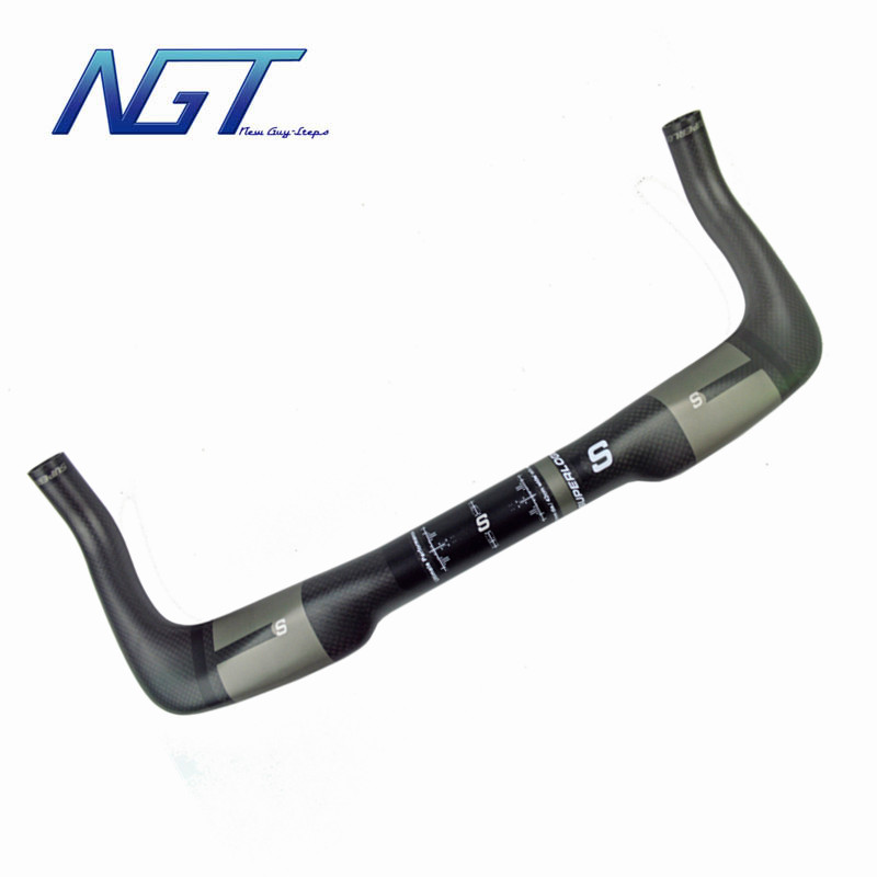 Super Light Weight Carbon Handlebar Bike Bars Grey Color Perfect surface Bicycle Handlebars TT Bar Top Quality Customized