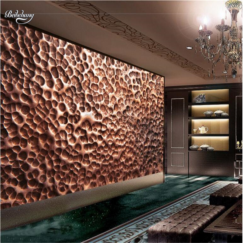 beibehang 3D Stereo Metal Texture Bump Art Background Wall Customized Large Mural Nonwovens Green Wallpaper 2015 real free shipping custom large mural of european 3d stereo wood bump texture bar coffee hall leisure background wallpaper