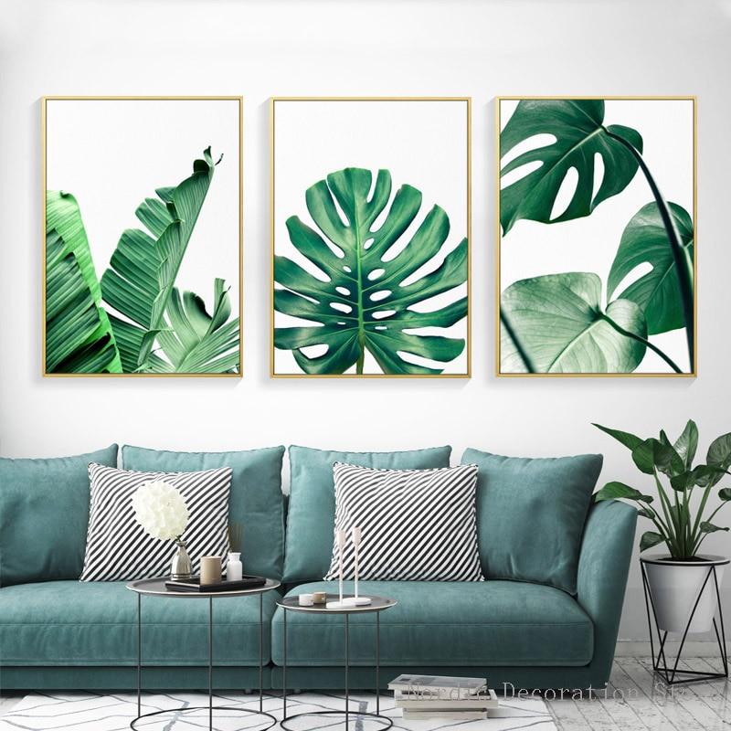 Buy nordic modern prints plant leaf art for Buy modern art prints