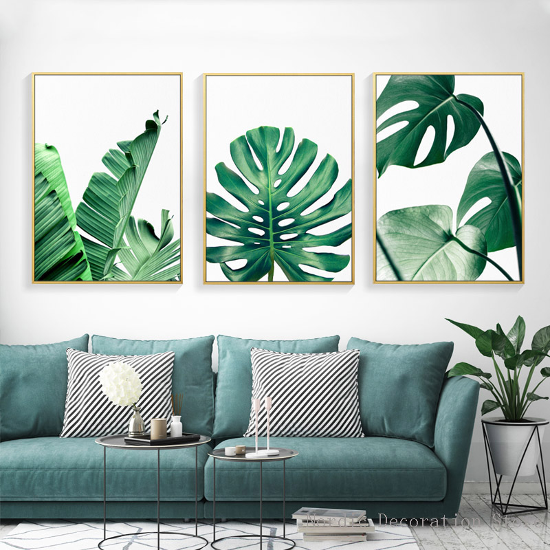 Posters Nordic Green Plant Posters And Prints Turtle Leaf