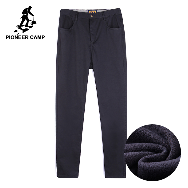 Pioneer Camp thick fleece mens winter pants brand clothing quality heavyweight business pants male smart casual  AXX701378men trousersbrand trouserstrousers brand -