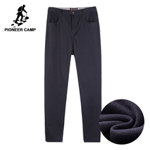 Pioneer Camp thick fleece mens winter pants brand clothing quality heavyweight business pants male smart casual  AXX701378