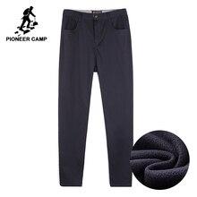 Pioneer kamp kalın polar erkek kış pantolonları marka giyim kaliteli ağır iş pantolonu erkek akıllı rahat AXX701378