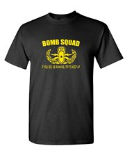 Casual Fitness T Shirts Short Sleeve Bomb Squad Print Crew Neck Tee For Men crew neck trippy print tee