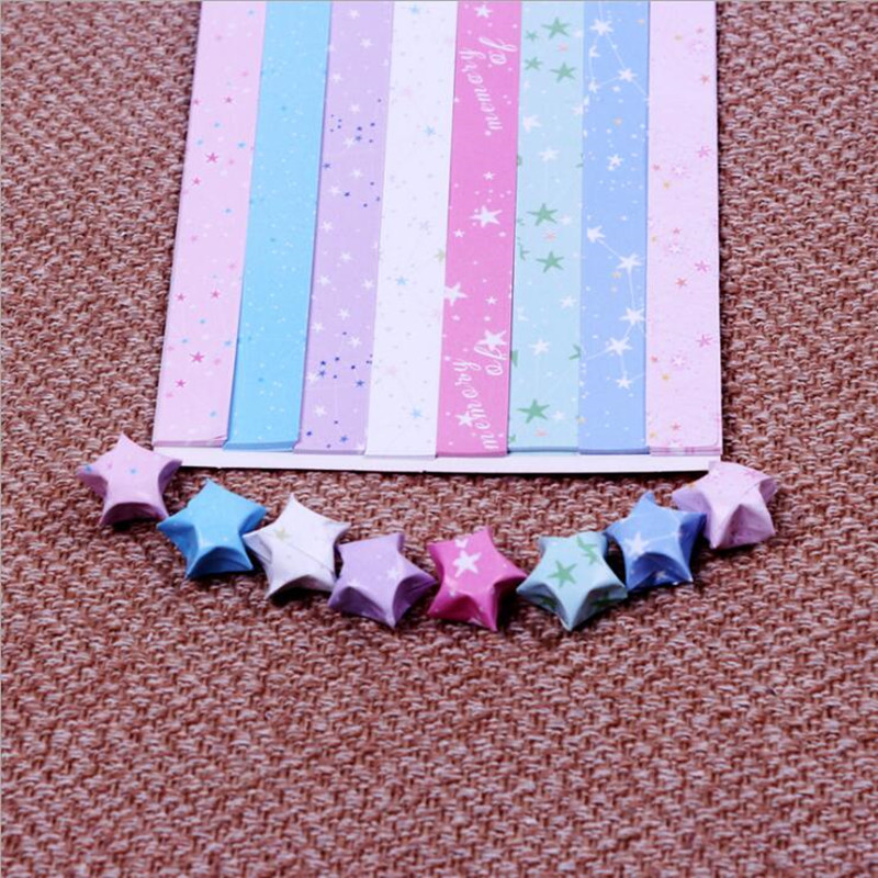 420 PCS Plastic Tube Origami Lucky Star DIY Making Material