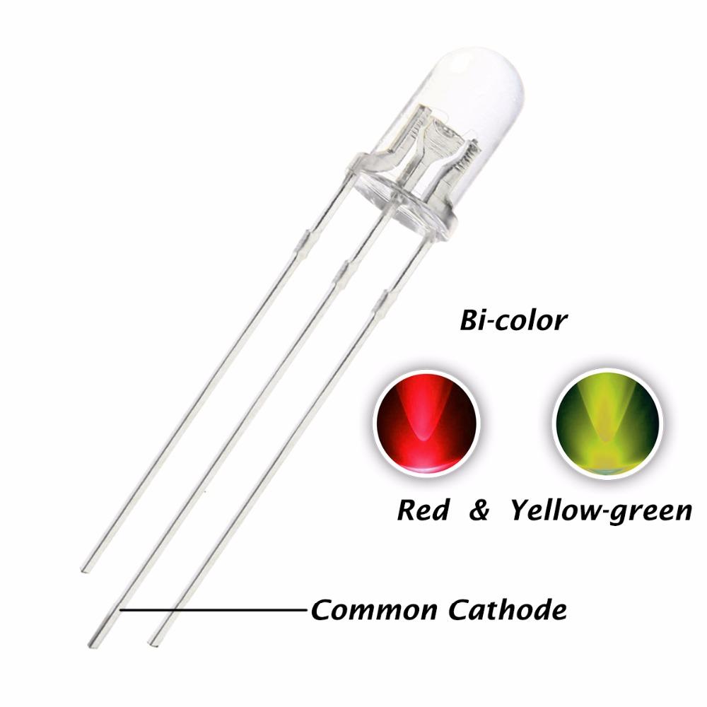 10 X 8 mm LED Bombilla Diodo Naranja Lente Claro Transparente