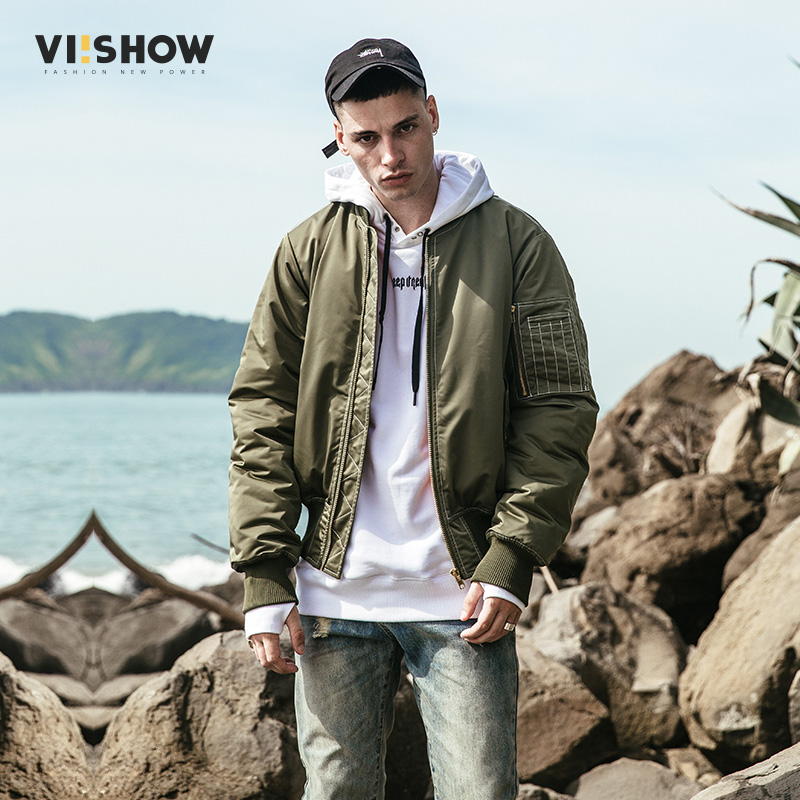 VIISHOW Winter Men Jacket 2017 Brand Casual Mens Jackets And Coats Army green Parka Men Outwear Jacket Male Clothing MC2154174 hot sale winter jacket men fashion cotton coat warm parka homme men s causal outwear hoodies clothing mens jackets and coats