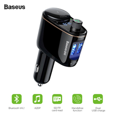 Baseus FM Transmitter Bluetooth V4.2 Car MP3 Audio Player Ha