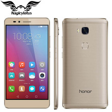"Original huawei honor 5x4g lte fdd teléfono móvil msm8939 android 5.5 ""FHD 1080 P 3 GB RAM 16 GB ROM 13.0MP Smartphone de Huellas Digitales"