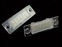 Styling LED License Plate Lights L&R 2PCS New for Jetta MK5, Passat B5 Durable