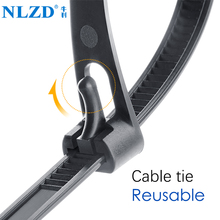 46647355e97b Releasable nylon cable ties may loose slipknot tie reusable packaging  Plastic Zip Tie wrap Strap 8
