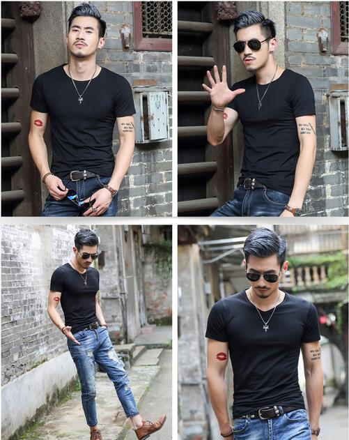 Men's pure color T-shirt with short sleeves in summer Leisure round collar render unlined upper garment 12 colors SIZE M-3XL