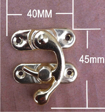 50Pcs Silver Jewelry Box Hasp Latch Lock 40x45mm with Screws