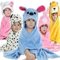 Hot Sale Soft Cute Baby Character Bathrobe Kids Care Towels Babies Cloak Child Bathrobes  Receving Swaddling Wrap Blankets