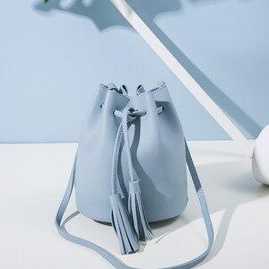 SUBIN retro Fashion gift Women Leather Cell Phone Bag Wallet luxury handbag Neck Strap Inclined shoulder bag Tassels Ornament