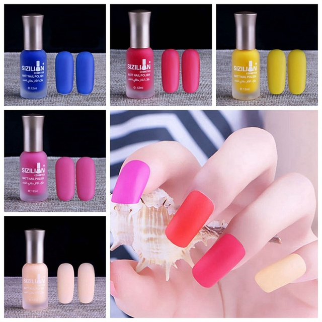 20 Colors Satin Frosted Bottle Long Lasting Nail Art Varnish Nail