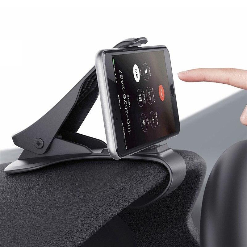 Universale Antiscivolo Supporto Del Telefono Dell'automobile Clip HUD Disegno Cruscotto Regolabile Mount Per iPhone 7 Più 6 Galaxy Basamento Del Telefono S8 staffa