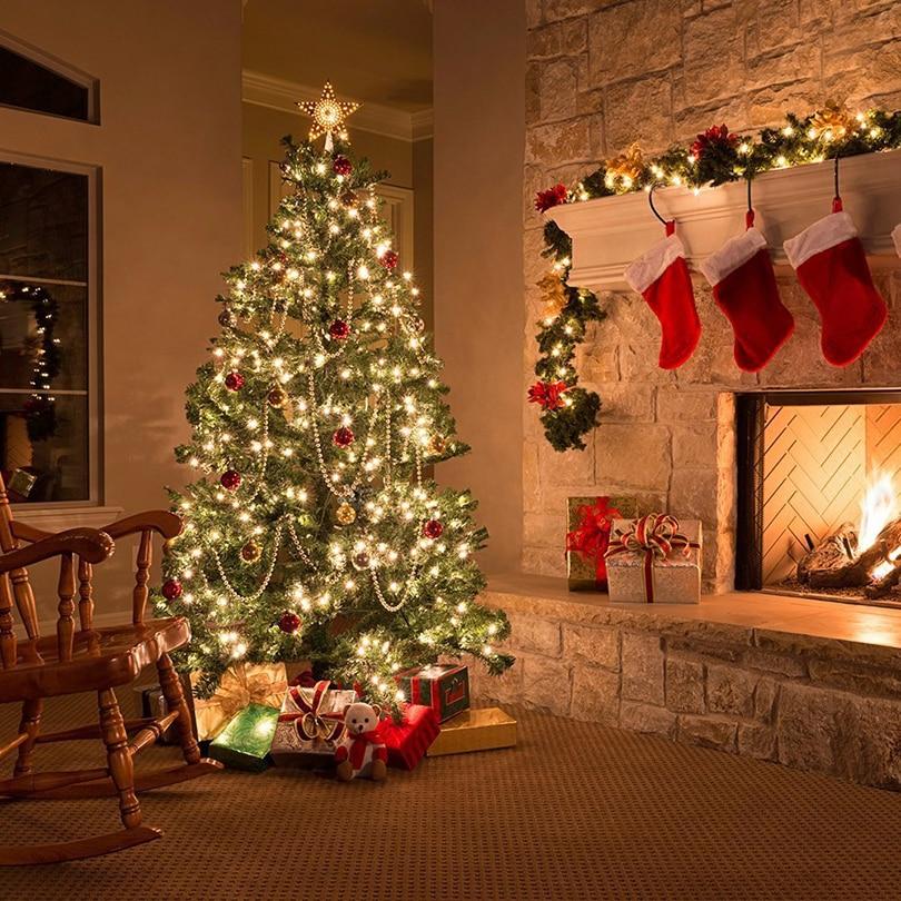 1M 10Leds Jõulutuled LED Vasktraat Fairy String Lights Aku Juhitud - Puhkusevalgustus - Foto 5
