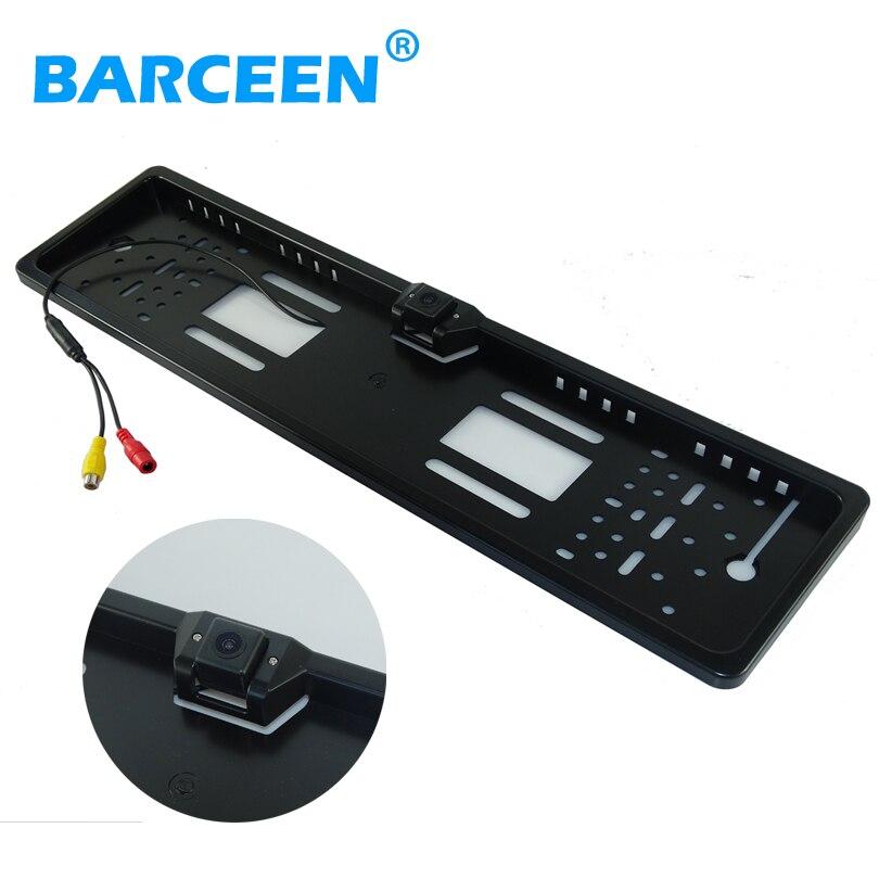 imágenes para European Car License Plate Frame cámara de visión trasera de aparcamiento de coche universal cámara de marcha atrás de copia de seguridad del CCD HD Del Coche de LA UE