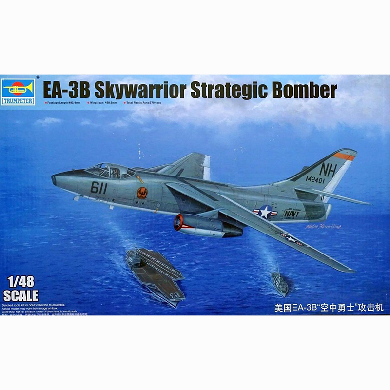 1/48 Trombettista 02871 Ea-3b Skywarrior Strategica Bomber Modello Hobby,