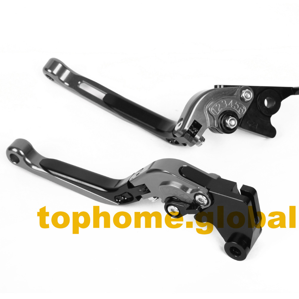 Motorbike Accessories Foldable&Extendable Brake Clutch Levers For Triumph 675 STREET TRIPLE R 2009-2014 2010 2011 2012 2013 adjustable billet extendable folding brake clutch levers for triumph daytona 675 r 2011 2015 speed triple 1050 r 12 15 2013 2014