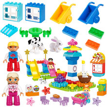 Animals figure car compatible Toys Blocks Building Creative Bricks Educational Toys For children Christmas gift(China)
