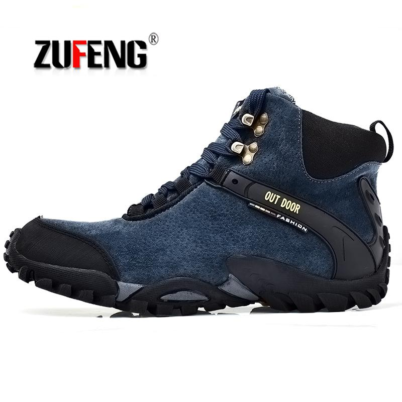 Sneakers Waterproof Hiking Shoes For Men Suede Mountain Climbing Shoes Quality Trekking Shoes Breathable Hiking Hunting Boots 46 yitu men s winter sneakers waterproof breathable hiking shoes outdoor mountain climbing trekking boots ankle camel hunting shoes