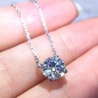 В продаже настоящие хорошие драгоценности из золота 18 карат AU750 G18K 2ct Муассанит с алмазными подвесками, Замшевые женские ботинки ожерелья из
