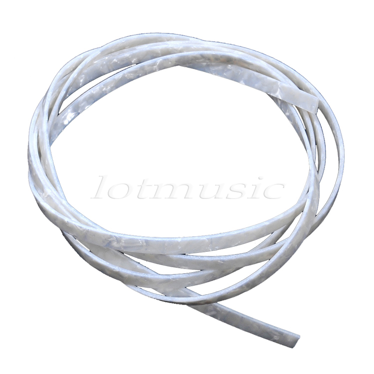 White Pearl Celluloid Guitar Binding Purfling 1650 X 2/4/5/6/10 X 1.5 Mm Celluloid Guitar Parts