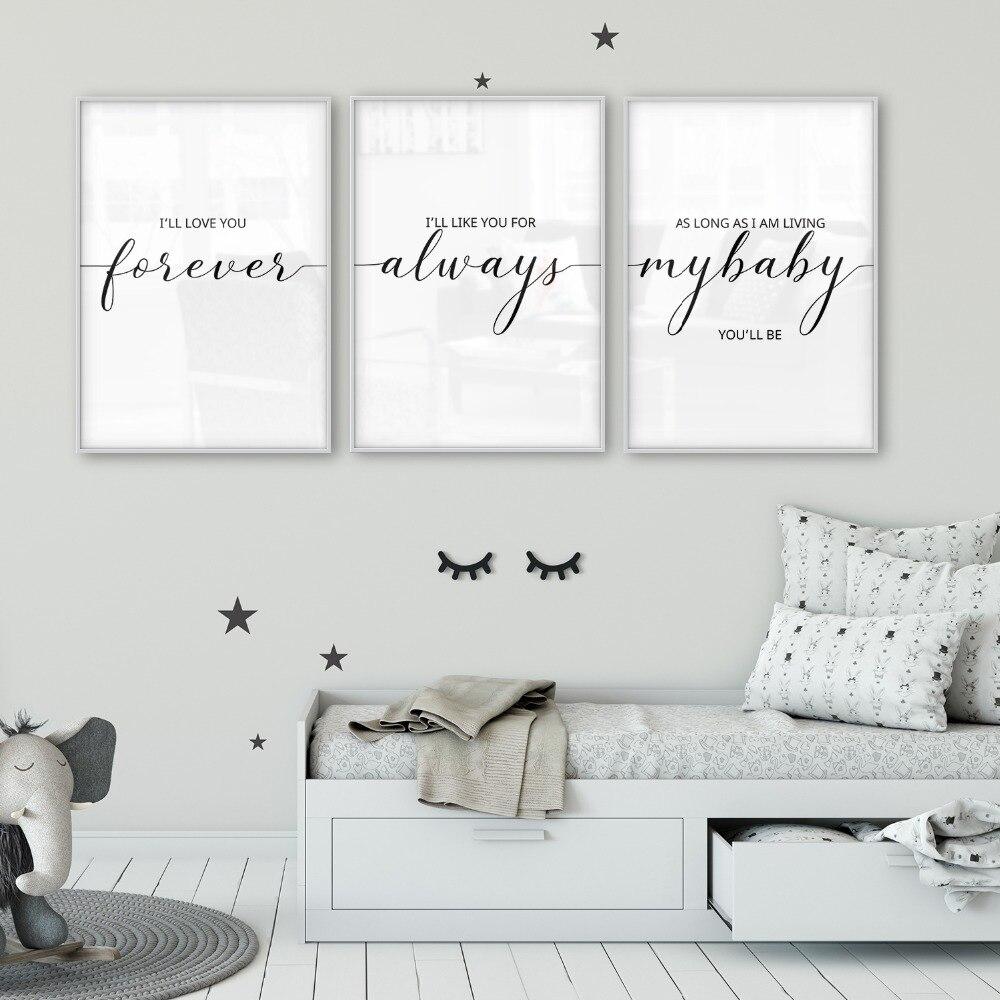 I'll Love You Forever Nursery Wall Art Nursery Decor Baby