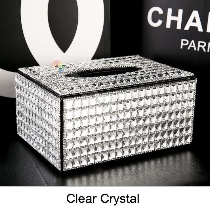Buy crystal tissue holder box and get free shipping on AliExpress.com cbb0f7eabf5e